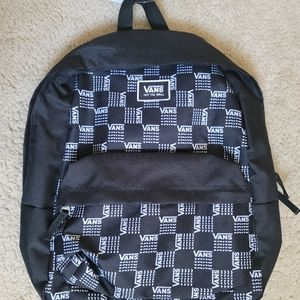 Vans Realm Classic Word Checkerboard Black